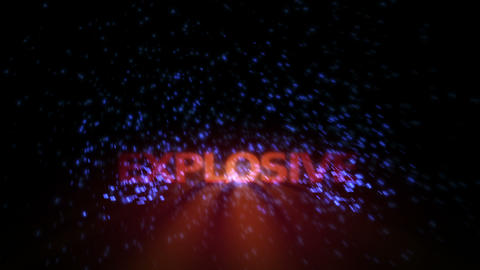 Futuristic technology light video animation with text EXPLOSIVE, loop HD Videos animados