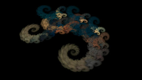 An abstract computer generated modern fractal design on dark background. Abstract fractal color Videos animados
