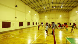 Badminton Playing Hall Sports University Students Asia India Footage