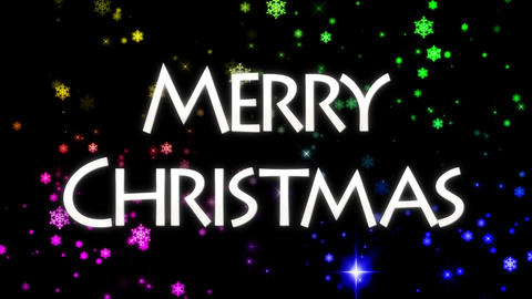 merry christmas message loop background CG動画素材