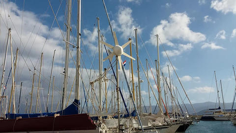 Yachts on the quay Footage