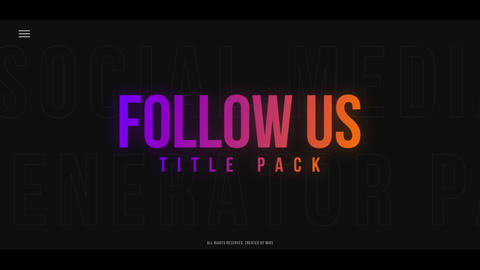Follow Us Title Pack Motion Graphics Template