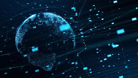 テクノロジーイメージ デジタルな地球 CG動画