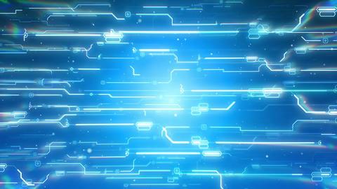 Hi-Tech Futuristic cyber background CG動画