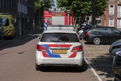 Police And Ambulance And Fire Department At Work At Amsterdam The Netherlands 13-7-2020 Photo