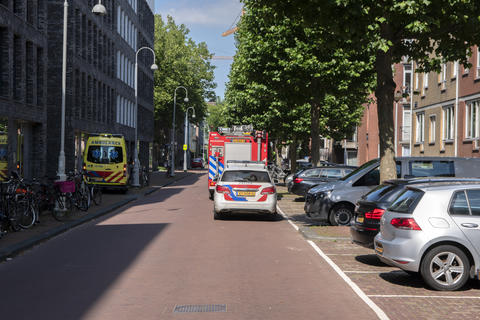 Police And Ambulance And Fire Department At Work At Amsterdam The Netherlands 13-7-2020 Fotografía