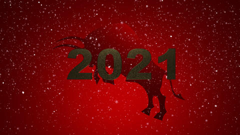 Mary Christmas and new year background animation. Motion Chinese New Year, zodiac symbol year of the Animation
