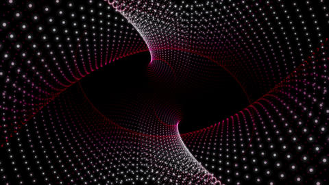 Futuristic video animation with particle object in motion, loop HD Videos animados