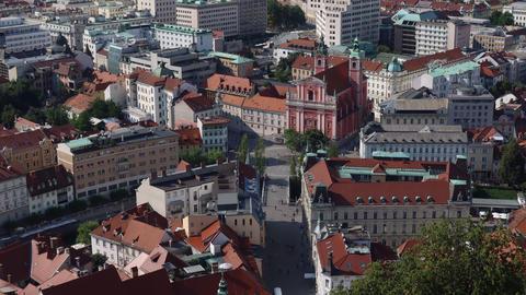 Time lapse of the center of Ljubljana Acción en vivo