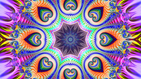 a bright multicolored abstract background shimmers with various fractal spirals Videos animados
