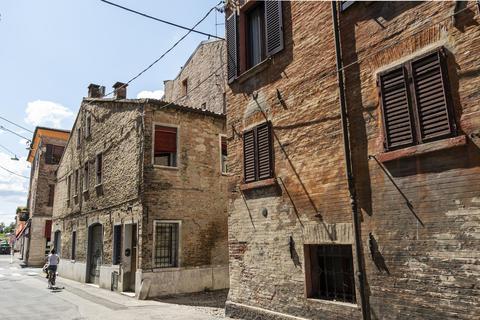 Old houses in Ferrara Photo