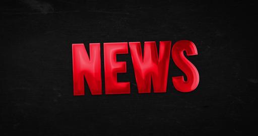 News. Logotype 4K animation Animation