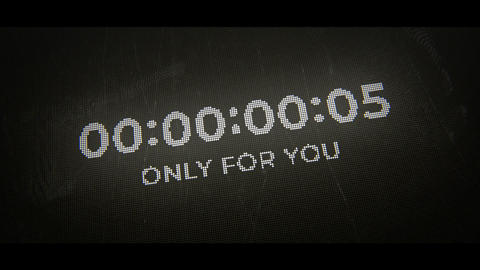 Countdown Clock After Effects Template