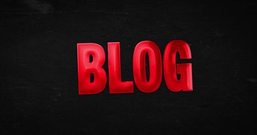 Blog. Logo. 4K animation Animation