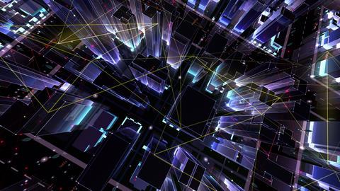 Digital City Network Building Technology Communication Data Business Background Night Ec0 color Animation