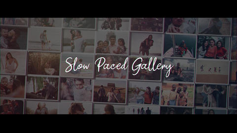 Slow Paced Gallery After Effects Template