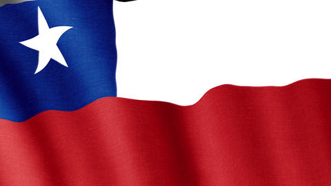 Chile. State flag of the country Animation