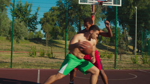 Athlete scoring points during basketbball game GIF