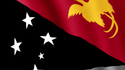 Papua New Guinea. State flag of the country Animation