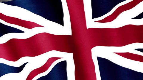 Great Britanian. State flag of the country Videos animados