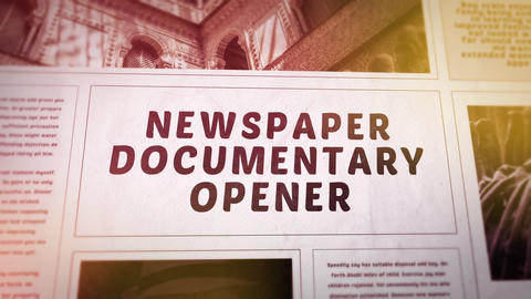 Newspaper Documentary Opener Premiere Pro Template