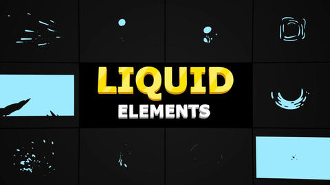 Abstract Liquid Shapes Apple Motion Template