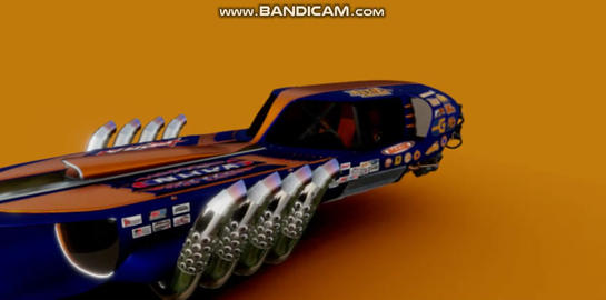 Drag racing hover car 3D Model