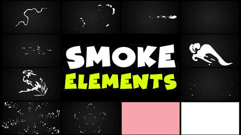 Smoke Elements Pack 05 After Effects Template