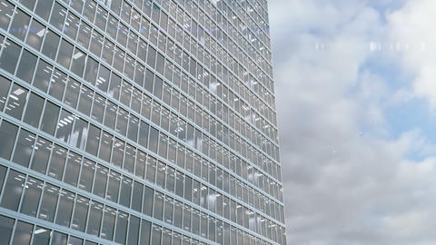 Office building windows and skyscraper building with corporate offices loopable Live Action