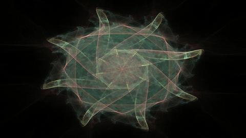 Abstract fractal patterns and shapes. Space geometry. Dynamic flowing forms with spirals. Mysterious Videos animados