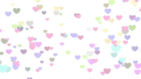 Colorful hearts on transparent background Videos animados