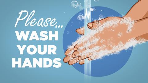Please Wash Your Hands Coronavirus Animation Animation