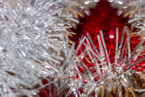 New Year and Christmas decoration abstract background. Soft focu Photo