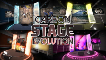 Carbon Stage Evolution - Apple Motion and Final Cut Pro X Template Apple Motionテンプレート