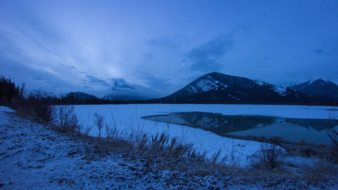 Tl-banff-vermillion-lake-sunrise Footage