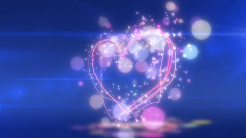 SHA Heart Love BG Blue CG動画