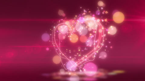 SHA Heart Love BG Pink CG動画