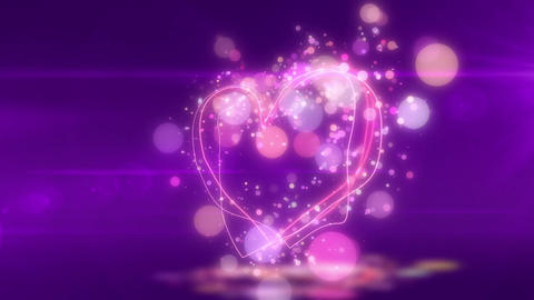 SHA Heart Love BG Violet Animation