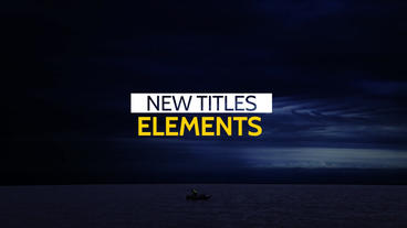 Clean Titles Lower Thirds After Effects Project