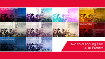 Two color lighting filter After Effects Template