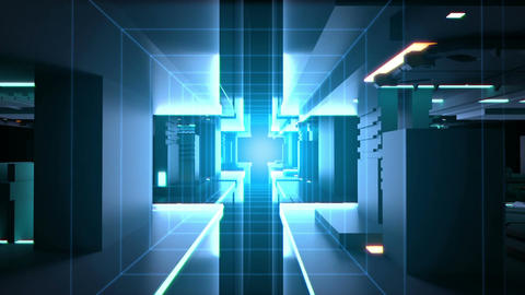 Digital tunnel Technology background loop CG動画素材