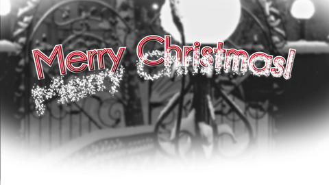 Merry Christmas with Winter Photo BG Animation