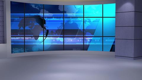 News TV Studio Set 234- Virtual Background Loop Live Action