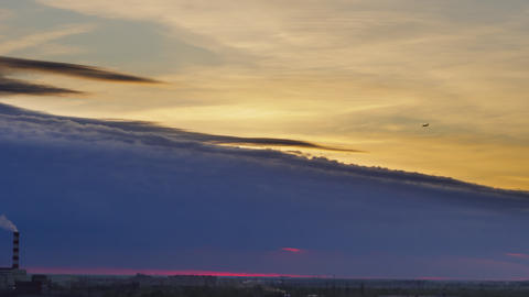 Scenic timelapse of evening sky GIF
