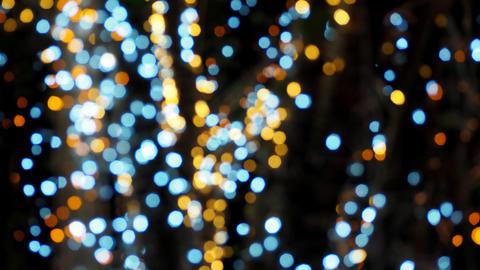 Colorful blurred bokeh lights Photo