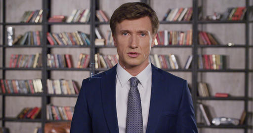 Handsome Businessman is Very Tired of the Huge Amount of Economic Information Live Action