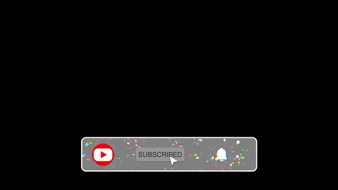 Subscribe Like and Notification Button for Channel with 4K QuickTime / Alpha Channel / Prores 4444 Animation