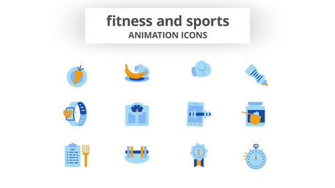Fitness & Sports - Animation Icons After Effects Template