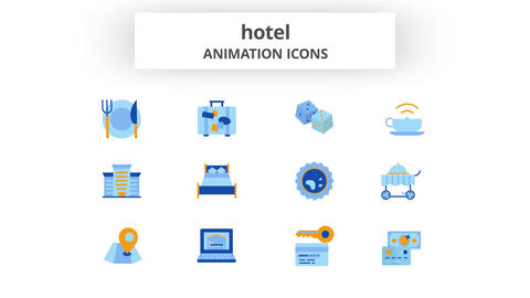 Hotel - Animation Icons After Effects Template