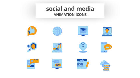 Social & Media - Animation Icons After Effects Template